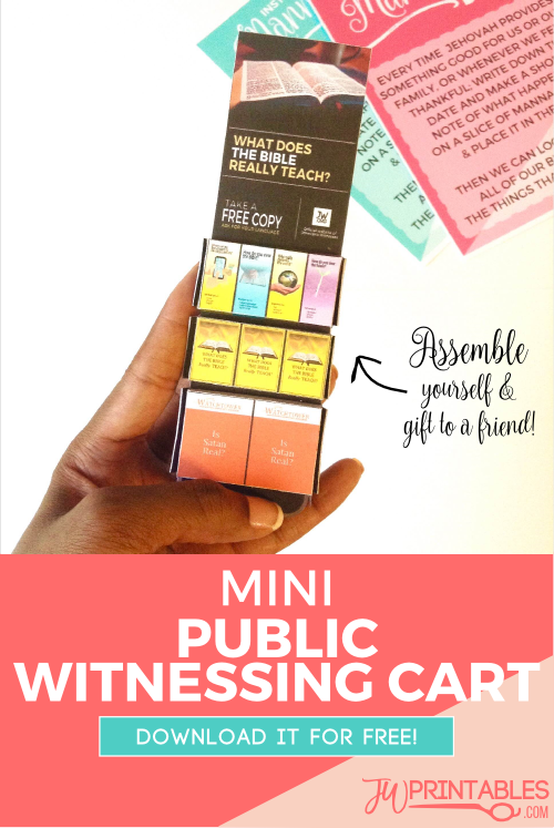 photo relating to Free Printable Minis identified as Totally free Do-it-yourself Mini Community Witnessing Cart - JW Printables