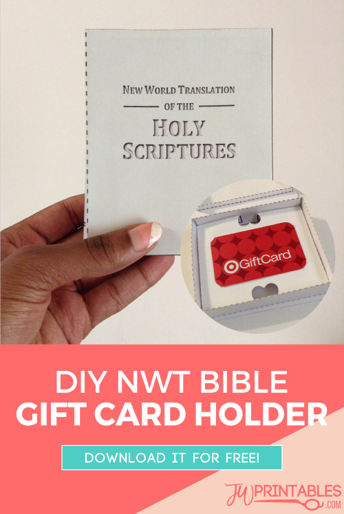 DIY NWT Bible Gift Card Holder - JW Printables