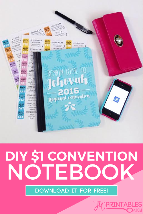 Diy 2016 Regional Convention Notebook Jw Printables