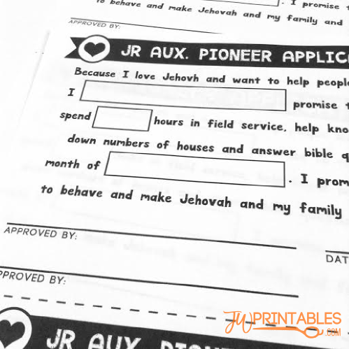 Jr Auxilary Pioneer Application1