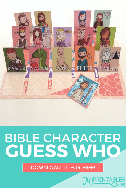 photograph about Printable Bible Characters identified as Bible Identity Bet Who Recreation - JW Printables