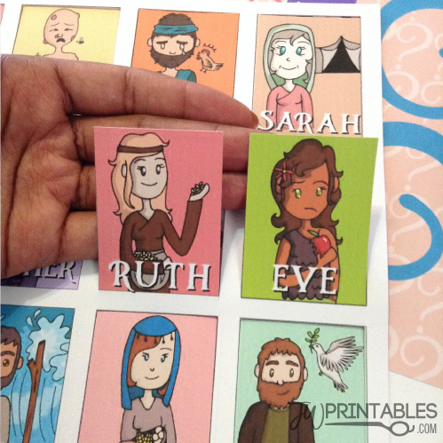 photo about Printable Bible Characters named Bible Personality Wager Who Match - JW Printables