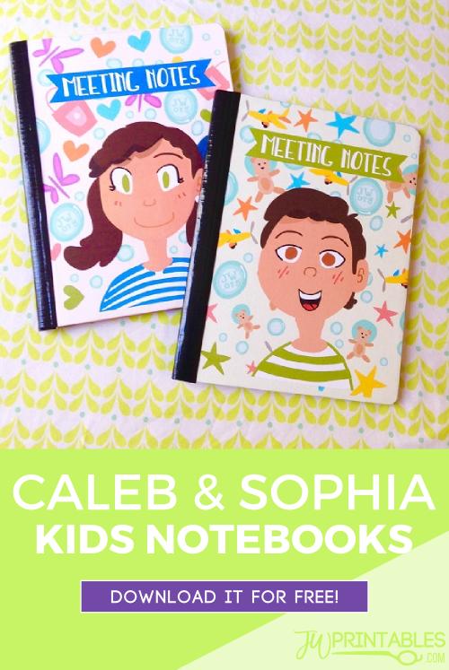 caleb sophia notebooks jw printables