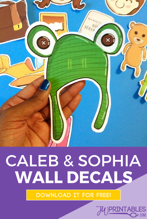 caleb & sophia wall decals pin