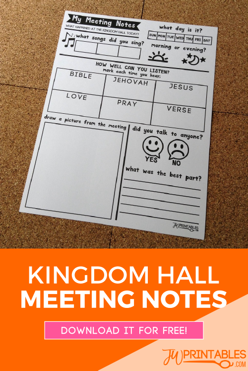 kingdom hall meeting notes pin
