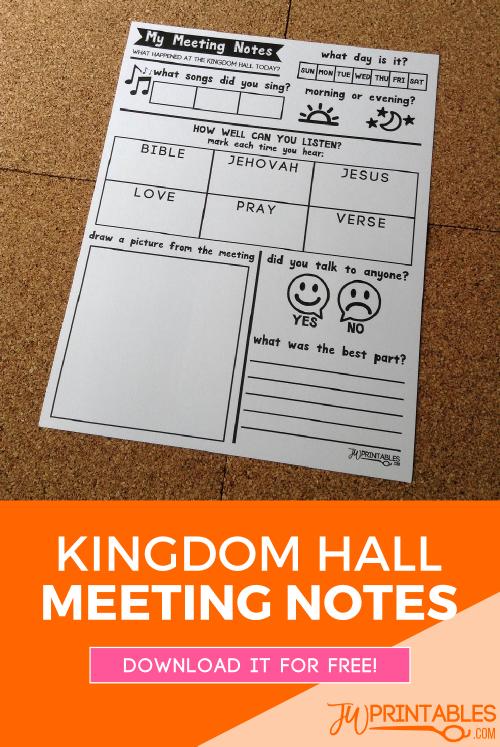 kingdom hall meeting notes pin