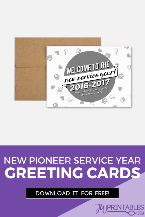 pioneer service year card pin