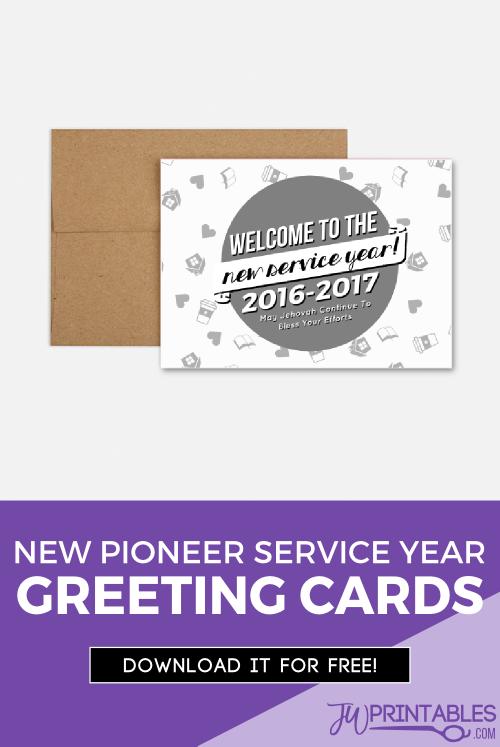 pioneer service year card pin