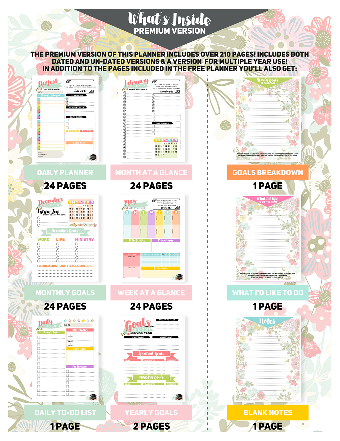 In Addition To Whatu0027s Inside The Free Version Of Your Planner, Hereu0027s A  Visual Look At The Other Extra Goodies Included ONLY In The Premium Version  (click ...  Free Download Daily Planner