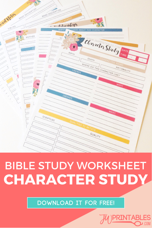 Worksheets Bible Character Study Worksheet jw personal bible study sheets character printables worksheet pin