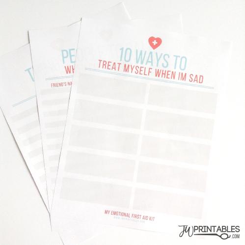 Teen Depression First Aid Kit Jw Printables