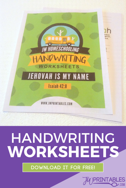 Jehovah' Handwriting Worksheets Booklet Jw Printables. 'jehovah' Handwriting Worksheets Booklet Jw Printables. Worksheet. Handwritingworksheets At Clickcart.co