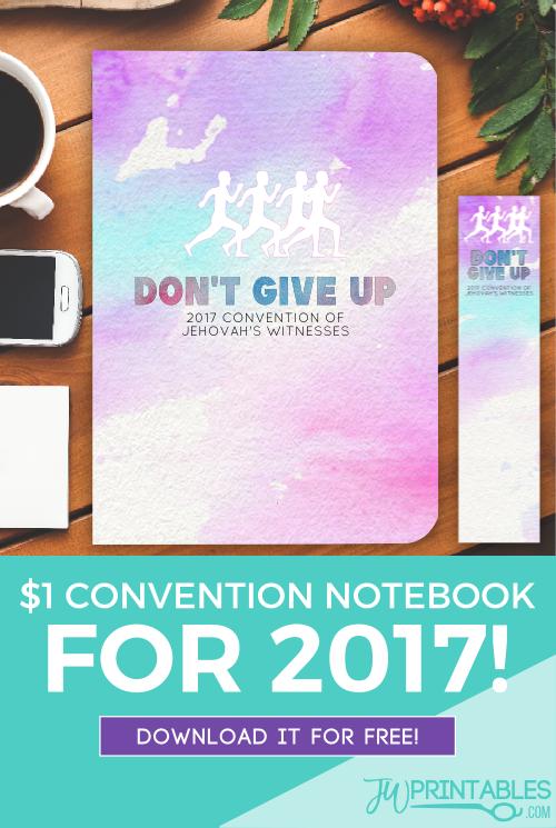 DIY 2017 $1 Convention Notebook - JW Printables