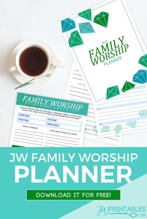 JW Free Family Worship Planner - JW Printables