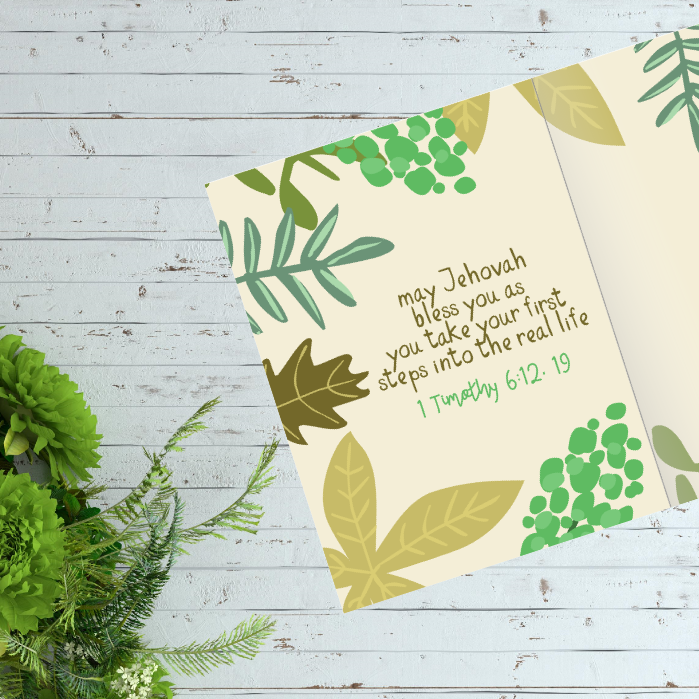 Welcome free jw baptism greeting card jw printables download the welcome to our family jw baptism card m4hsunfo