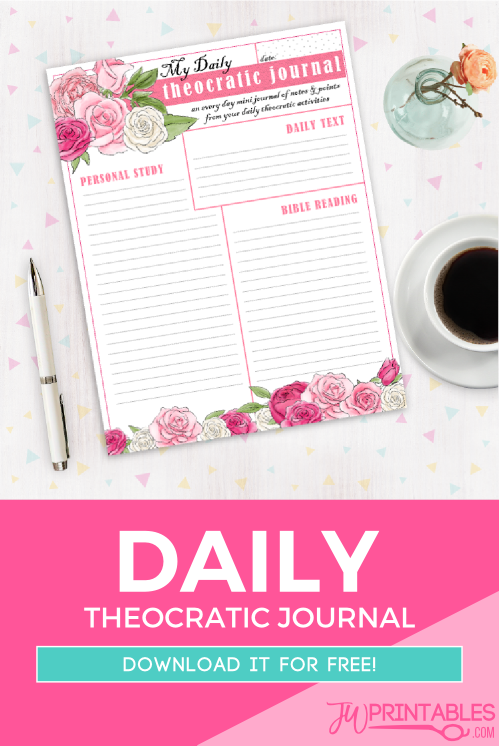 daily theocratic activity journal jw printables