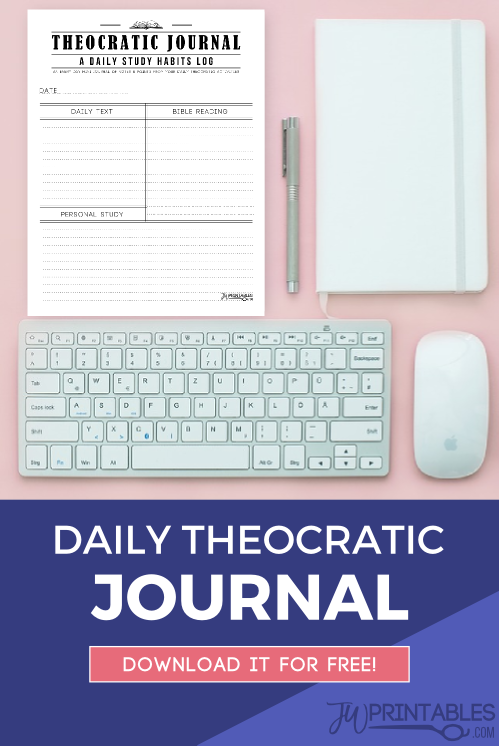Daily Theocratic Journal (Male) - JW Printables