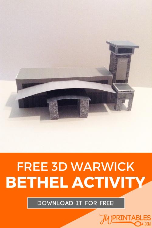 FREE DIY 3D Warwick Bethel - JW Printables