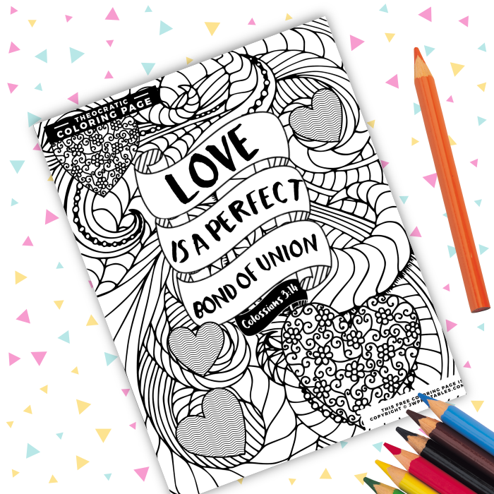 Perfect bond of union coloring page jw jw printables for Jw coloring pages