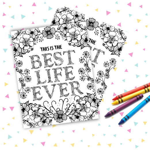 Free Best Life Ever Coloring Page Jw Printables