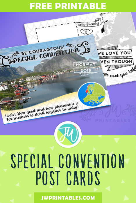 2018 Special Convention Post Cards - JW Printables
