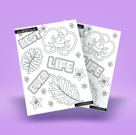 Best Life Ever Coloring Page Free