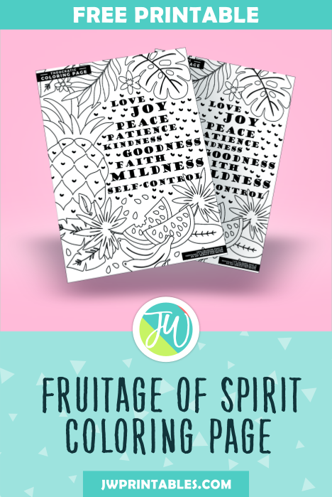 Fruitage Of The Spirit Coloring Page Jw Printables
