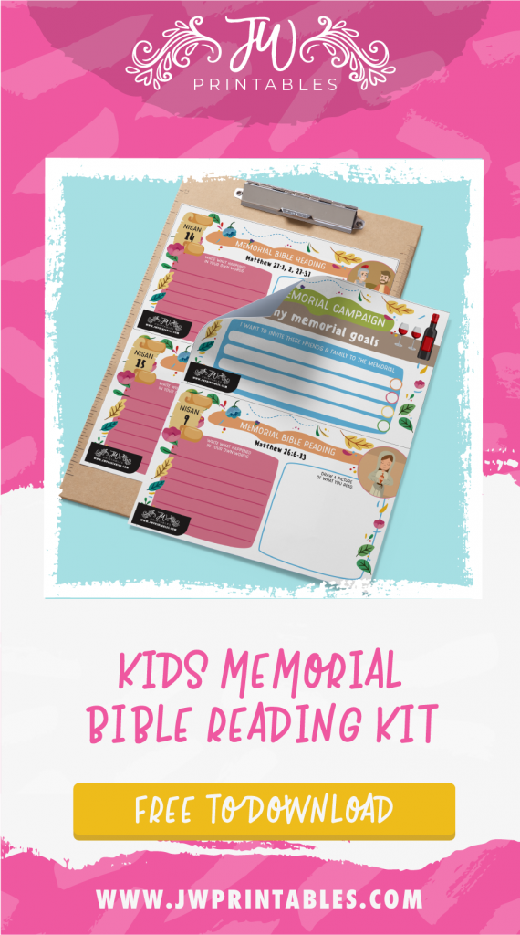 JW Kids Memorial Bible Reading & Goals Kit - JW Printables