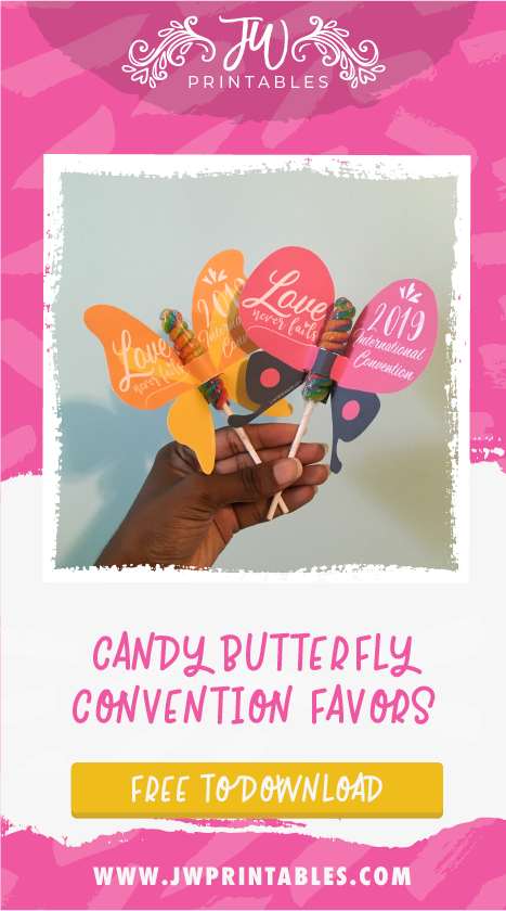 Love Never Fails - Convention Candy Butterfly Favors - JW