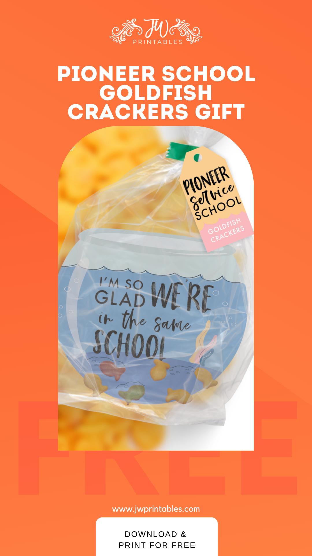 Goldfish Cracker Pioneer Gift Tags JW Printables